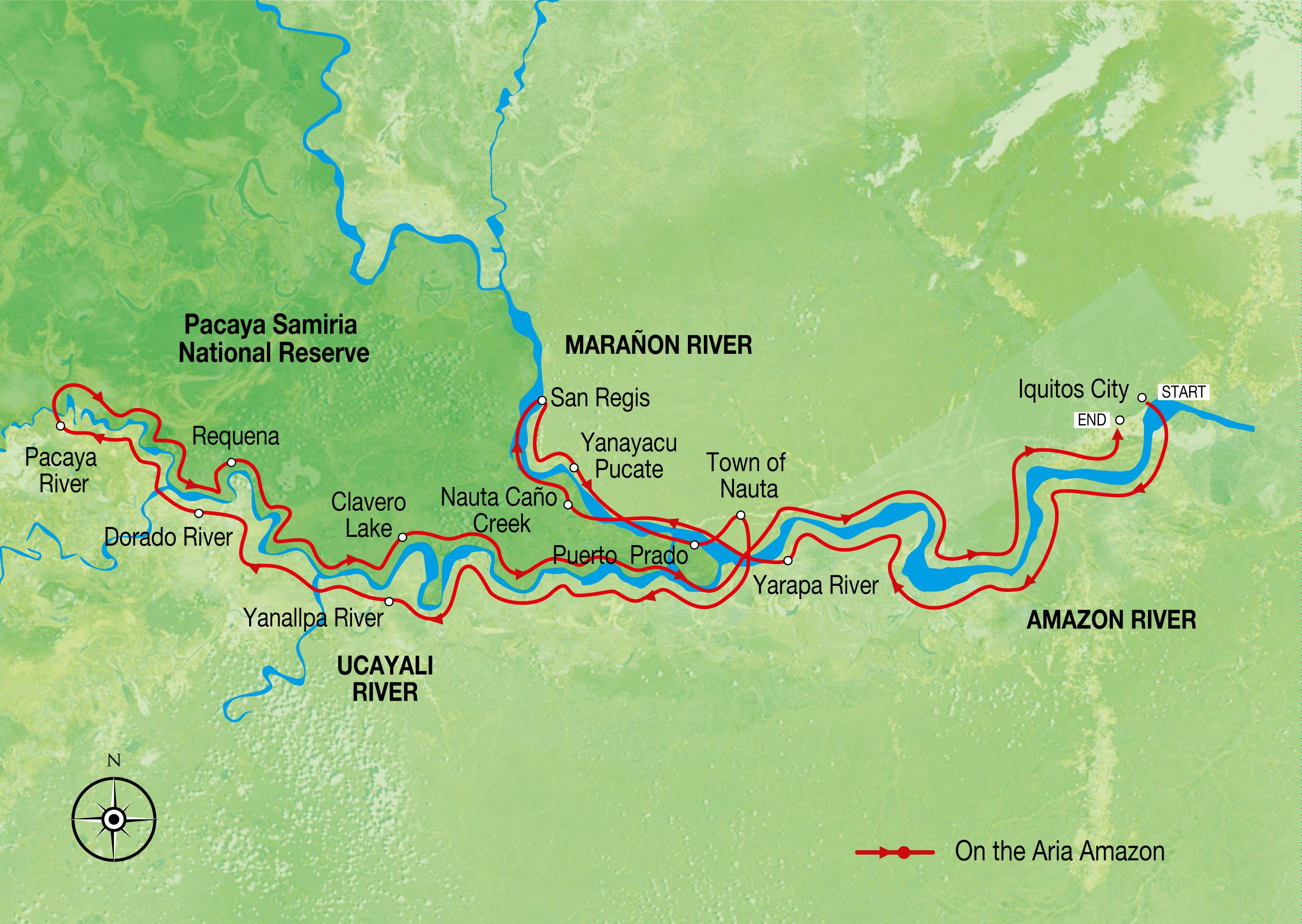Peru Map Amazon River Map Amazon Cruise Map Aqua Expeditions - Where is the amazon river